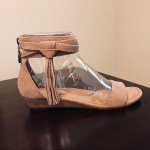 56ae3f128fe5 UGG Shoes - NWT UGG Saige Fringe Wedge Sandal